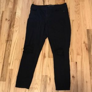 Express Short Ripped Knee High-waisted Jegging